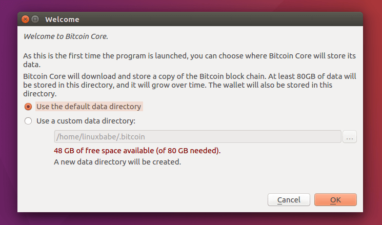 how to install bitcoin core