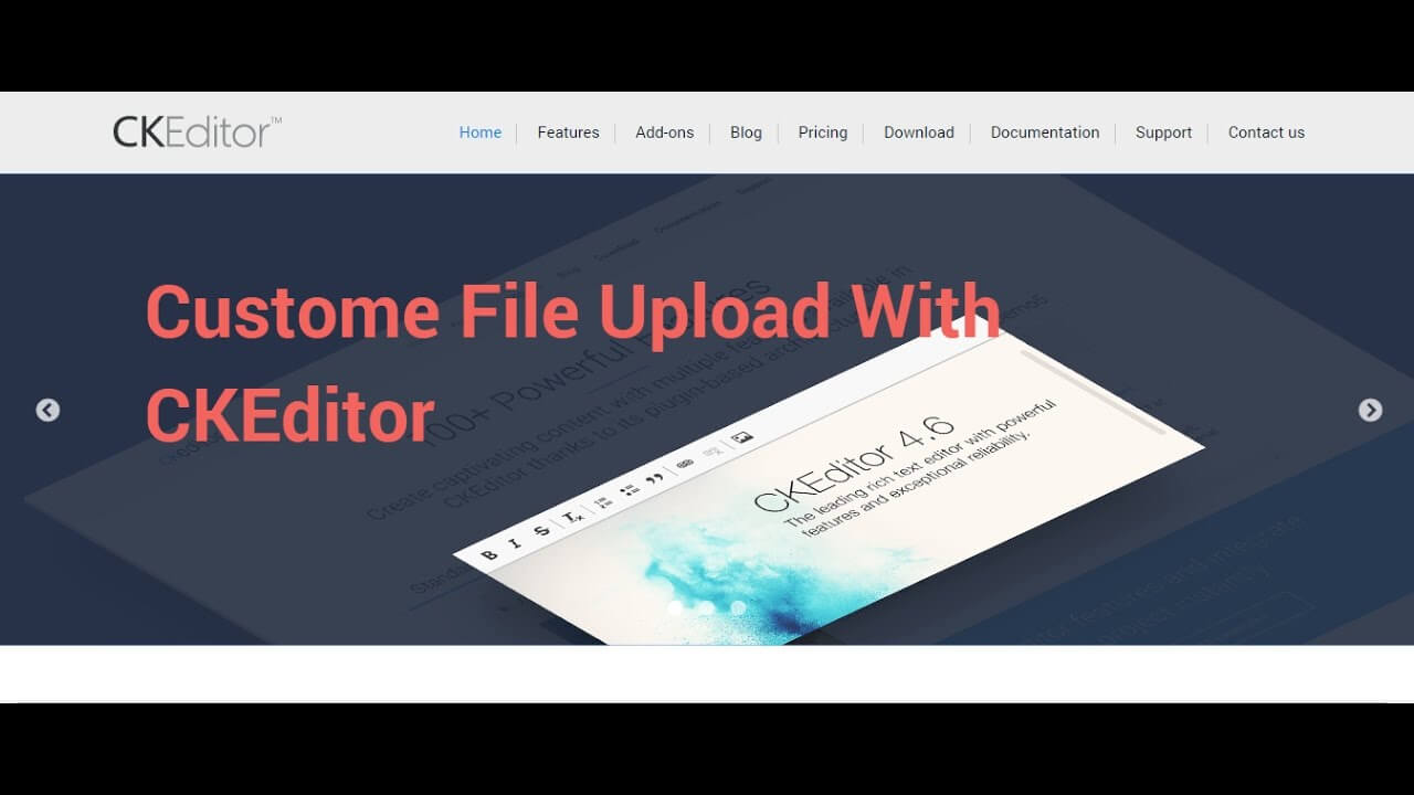 How to upload custome file in ckeditor in php