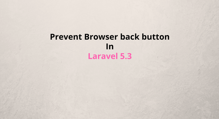 Laravel5.4 - Prevent Browser's Back Button Login After Logout