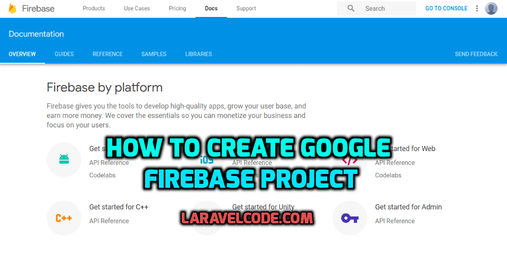 How to create google firebase project