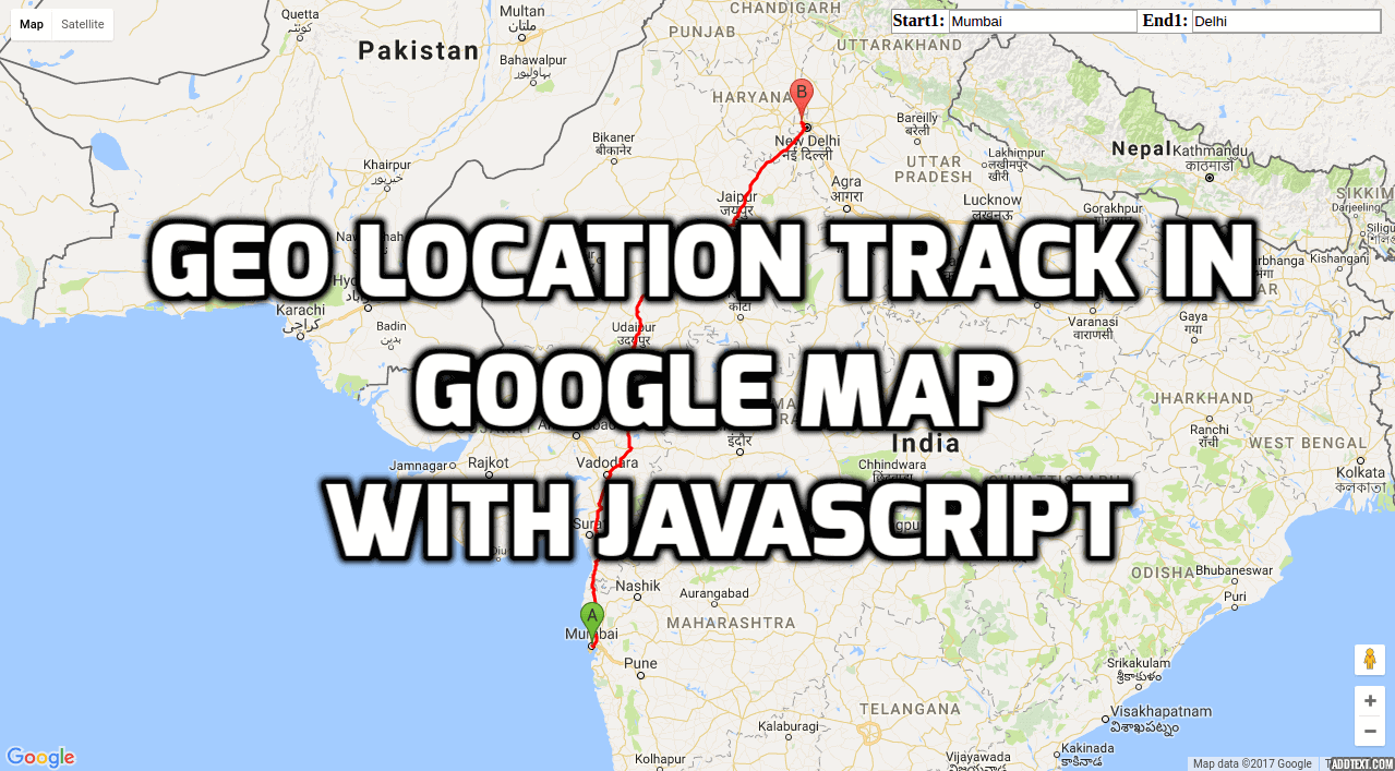 GEO Location Track In Google Map With JavaScript