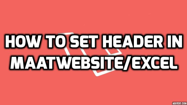 How To Set Header In maatwebsite/excel Export In Laravel